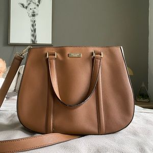 Kate Spade Brown Saffiano Leather Handbag